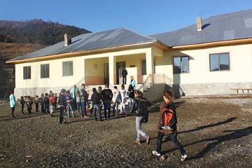 The renovated school of Bishnica