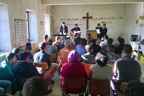 Church service in Buzaishte